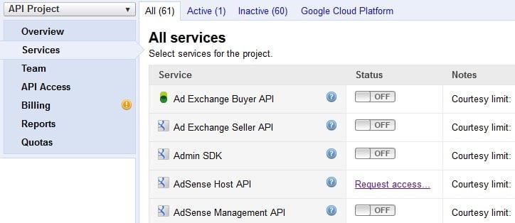 get-google-API