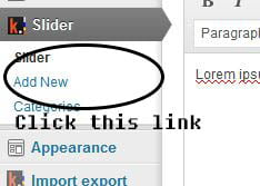 Add and setting slider in muhidin and sibos themes.