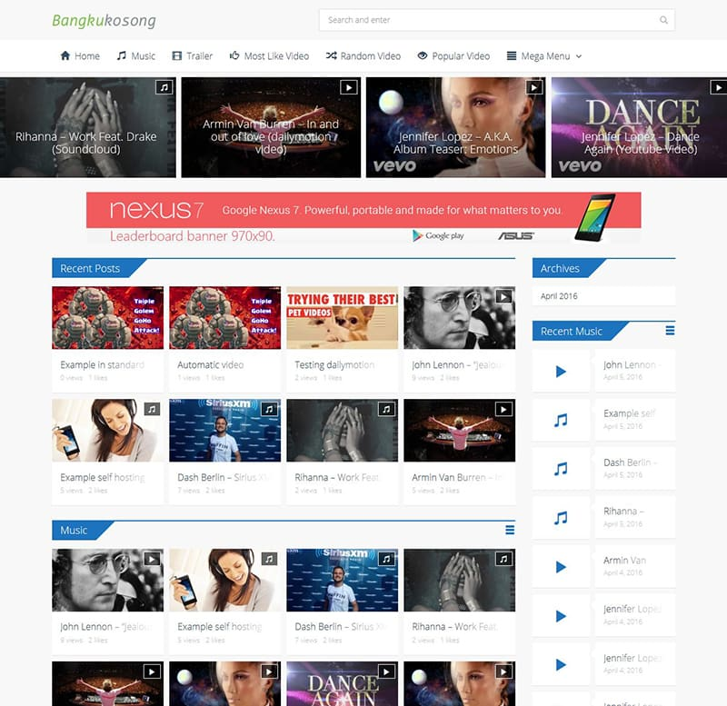 Bangkukosong video wordpress theme woocommerce support