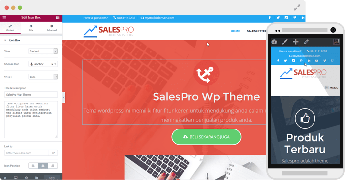 Salespro Landing page WordPress Theme