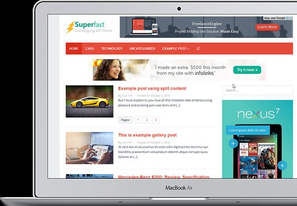 Superfast High Ctr Adsense Theme WordPress