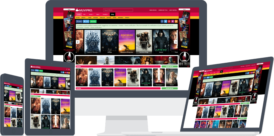 Muvipro Movie Streaming WordPress Theme