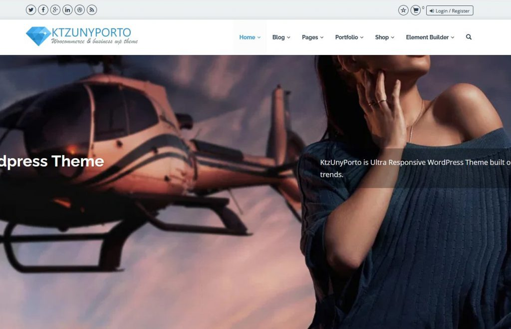 Ktzunyporto business wordpress theme